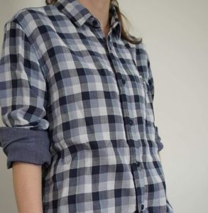 Plaid blue flannel